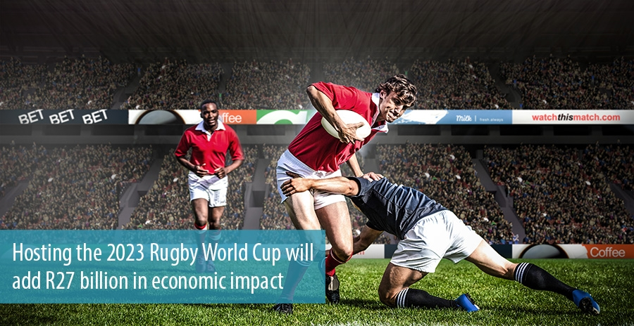 Hosting the 2023 Rugby World Cup will add R27 billion in economic impact