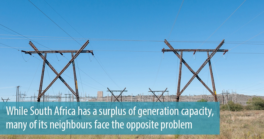 While South Africa has a surplus of generation capacity, many of its neighbours face the opposite problem