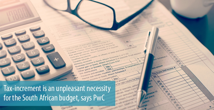 Tax-increment is an unpleasant necessity for the South African budget, says PwC