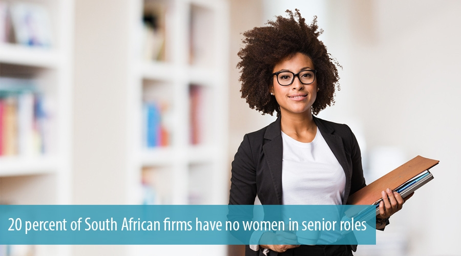 20 percent of South African firms have no women in senior roles