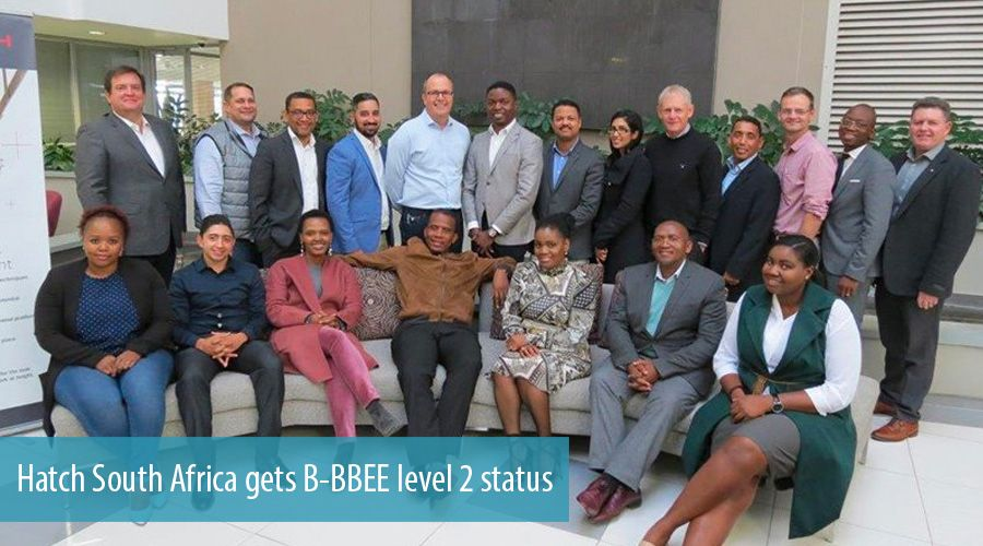 Hatch South Africa gets B-BBEE level 2 status
