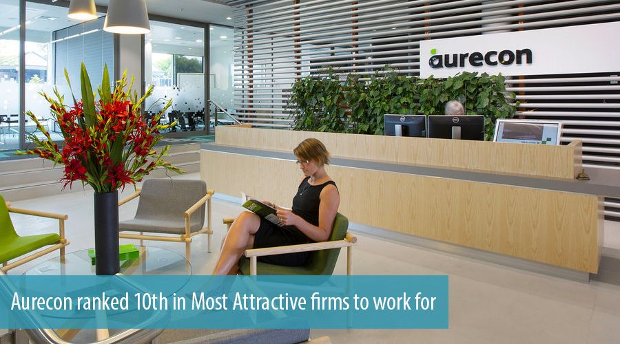 Aurecon ranked 10th in Most Attractive firms to work for