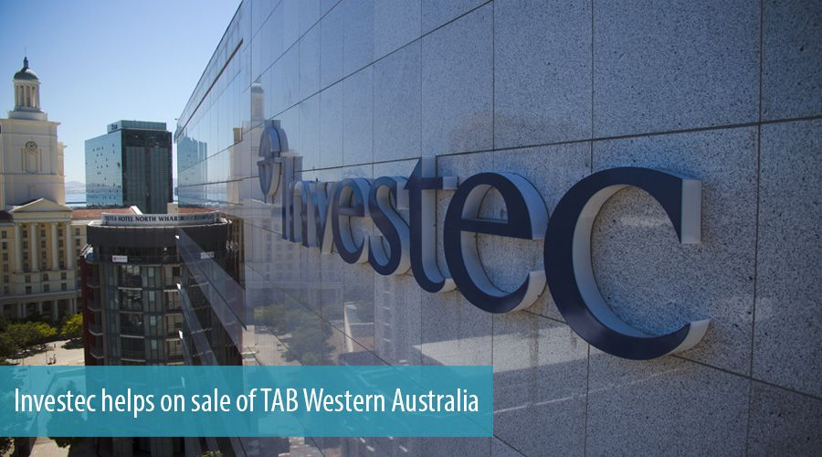Investec helps on sale of TAB Western Australia