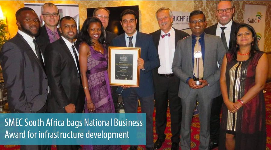 SMEC South Africa bags National Business Award for infrastructure development