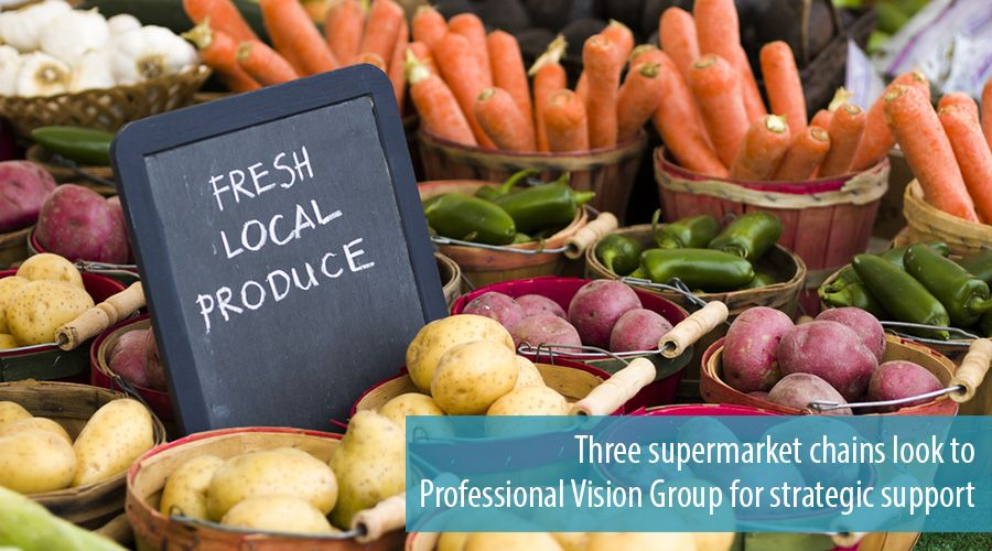 Three supermarket chains look to Professional Vision Group for strategic support