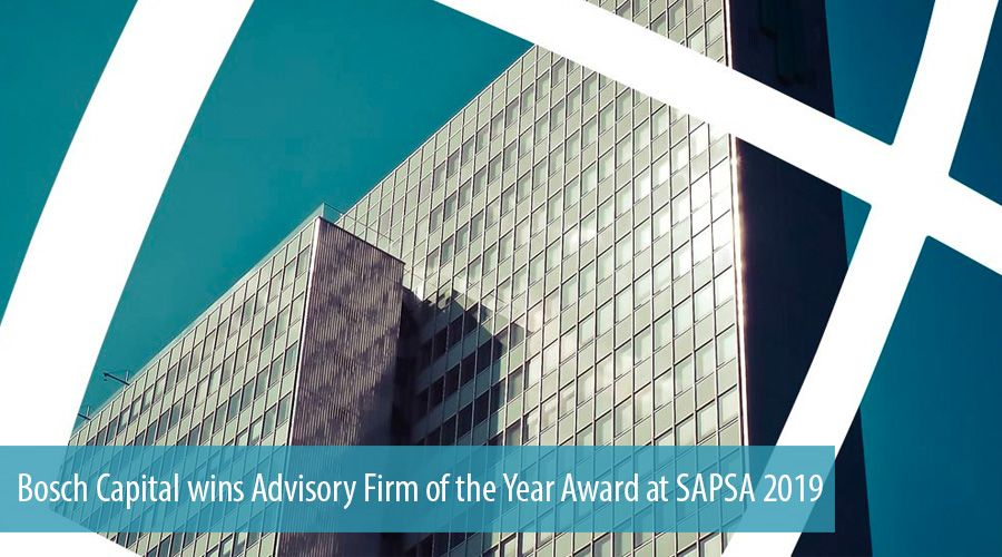 Bosch Capital wins Advisory Firm of the Year Award at SAPSA 2019