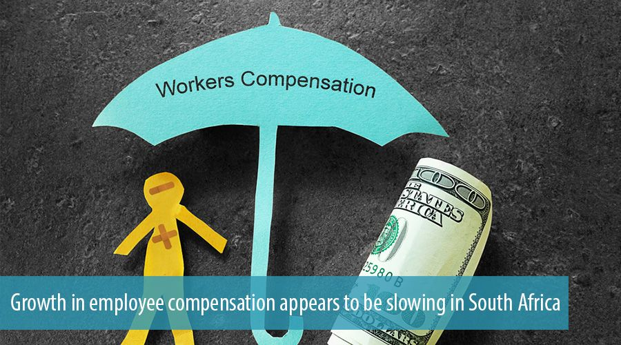 Growth in employee compensation appears to be slowing in South Africa