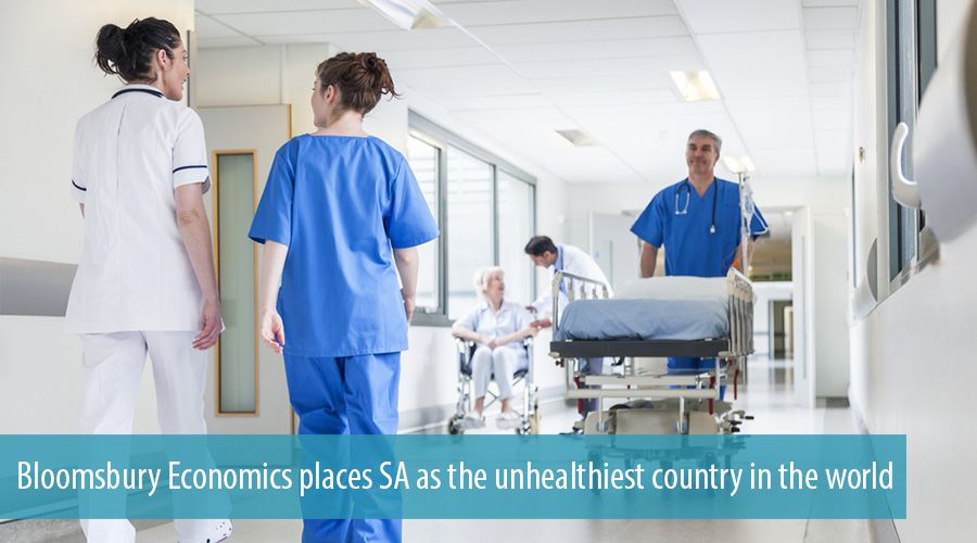 Bloomsbury Economics places SA as the unhealthiest country in the world