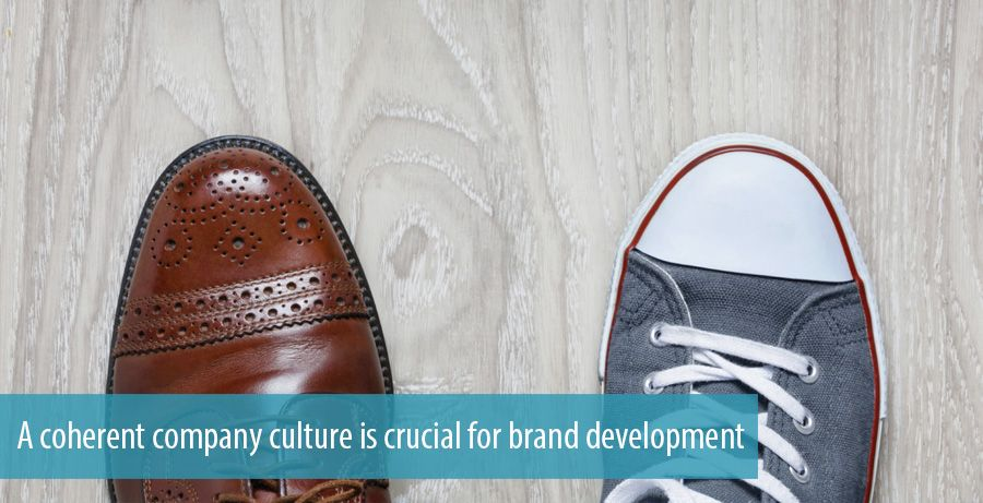 A coherent company culture is crucial for brand development