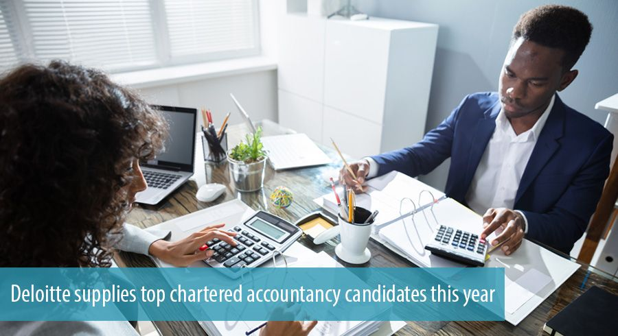 Deloitte supplies top chartered accountancy candidates this year